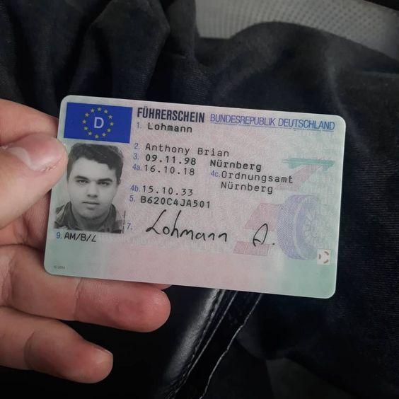 registrierter Führerschein